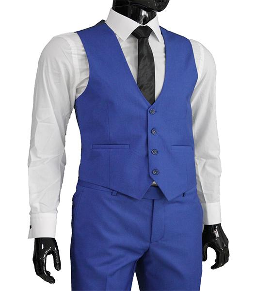 slim fit herren weste in hellblau herrenanzug anzug. Black Bedroom Furniture Sets. Home Design Ideas