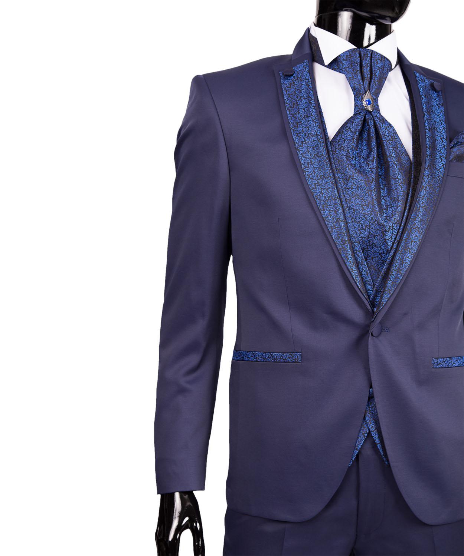 slim fit herren hochzeitsanzug in blau smoking anzug. Black Bedroom Furniture Sets. Home Design Ideas