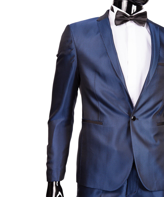 slim fit herrenanzug carbone glanz in blau smoking anzug hochzeit b hne sakko ebay. Black Bedroom Furniture Sets. Home Design Ideas