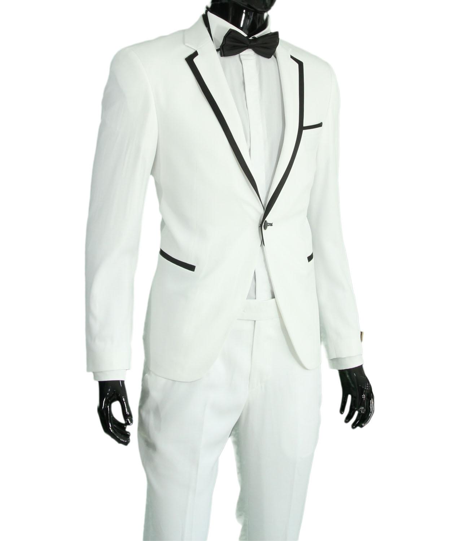 low priced 37493 9a876 Detalles de Slim fit señores traje en azul * Burdeos * azul oscuro * negro  * Weiss-smoking-traje- ver título original