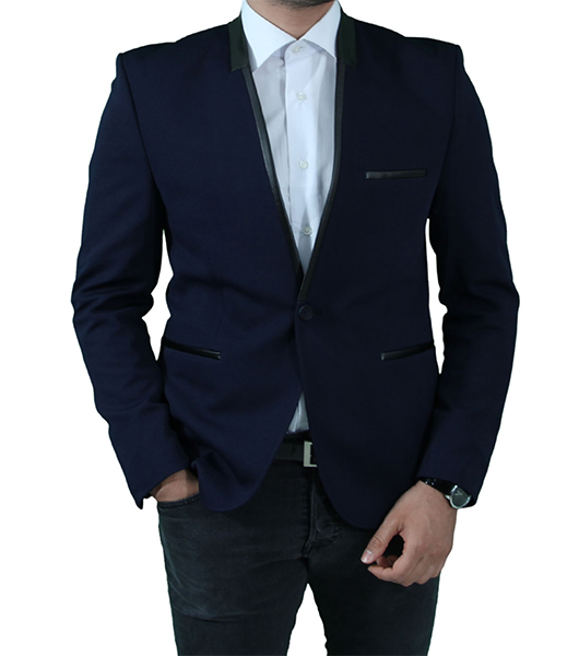 slim fit herren sakko in blau schwarz dunkelblau anzug hochzeit b hne. Black Bedroom Furniture Sets. Home Design Ideas