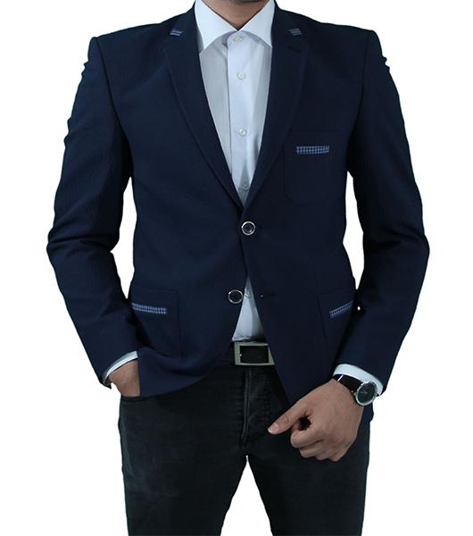 slim fit herren sakko in blau herrenanzug anzug hochzeit b hne sakko. Black Bedroom Furniture Sets. Home Design Ideas