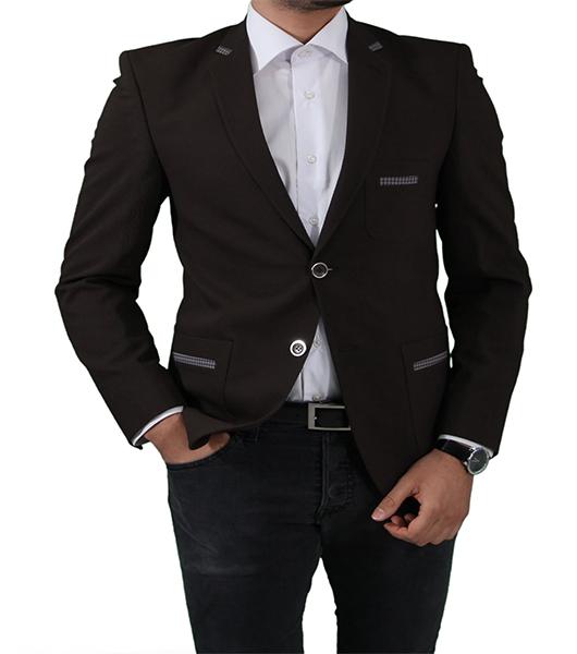 slim fit herren sakko in braun herrenanzug anzug hochzeit b hne sakko ebay. Black Bedroom Furniture Sets. Home Design Ideas