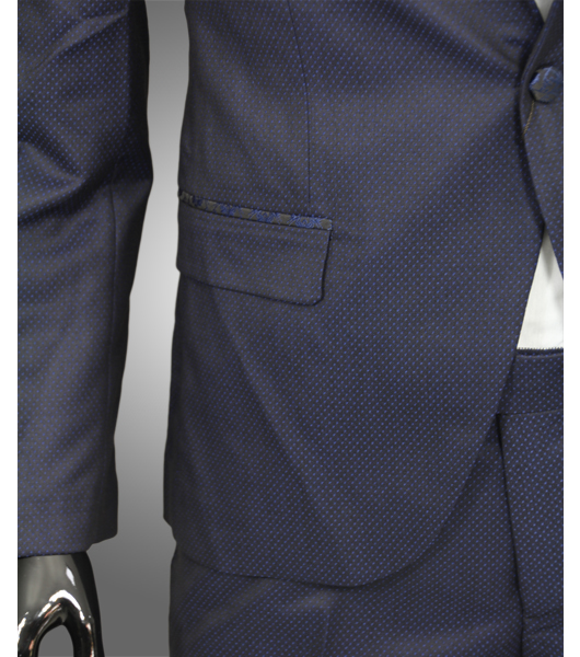 smoking in dunkel blau verziert slim fit anzug herrenanzug br utigam b hne ebay. Black Bedroom Furniture Sets. Home Design Ideas