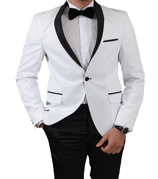 slim fit herren smoking in weiss herrenanzug anzug hochzeit b hne sakko ebay. Black Bedroom Furniture Sets. Home Design Ideas
